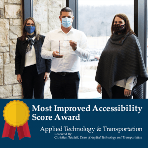 Most Improved Accessibility Score Award: Applied Technology & Transportation (ATT)
