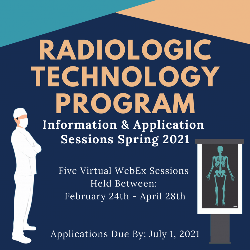 Radiologic Technology Virtual Information/Application Sessions Spring 2021