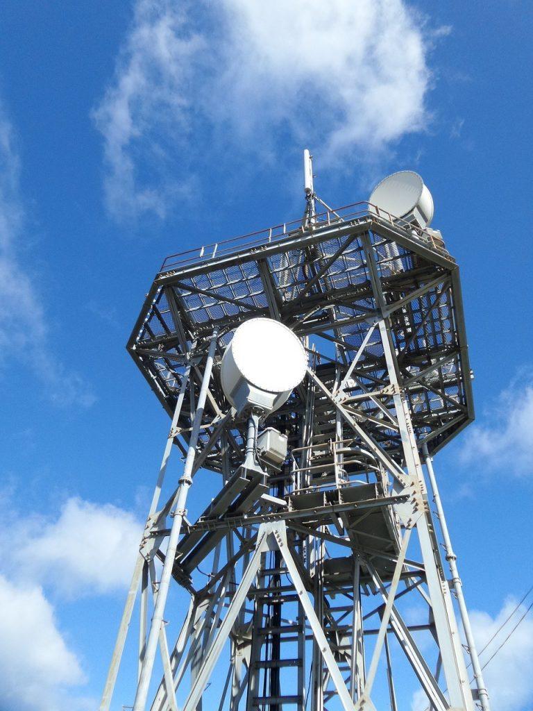 Gprs Tower Gsm Wireless Sky Blue Network Antenna