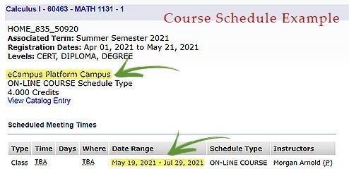 eCampus Course Example